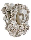 白色希腊妇女灯台雕象 免版税库存照片