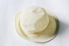 白色帽子 免版税库存图片