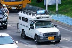 白色微型卡车出租汽车chiangmai 免版税图库摄影