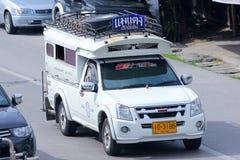 白色微型卡车出租汽车chiangmai 库存图片