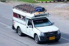 白色微型卡车出租汽车chiangmai 图库摄影
