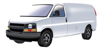 白色微型货车图画  库存图片