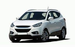 白色微型SUV 免版税库存照片