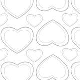 白色心脏样式 免版税库存图片