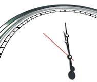 白色您的Mes的时钟表盘华丽手空白的拷贝时空 免版税库存图片