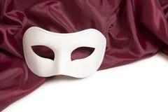 白色戏剧性面具 免版税库存照片