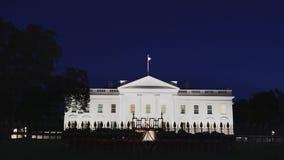 白色房子在华盛顿在夏夜 股票录像