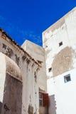 白色房子在索维拉,摩洛哥 免版税库存图片
