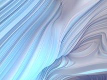 白色扭转的形状 计算机生成的抽象几何3D回报例证 向量例证
