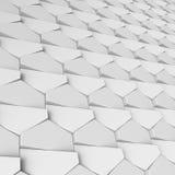白色抽象六角形背景 向量例证