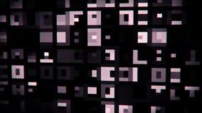 白色抽象数字正方形VJ圈行动背景 向量例证