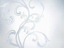 白色抽象装饰品 免版税库存图片