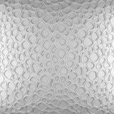 白色抽象细胞净背景 回报几何多角形的3d 库存图片