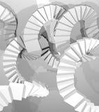 白色抽象stairss 皇族释放例证
