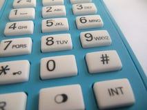 白色拨号盘按钮 免版税库存照片