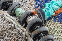 白色捕鱼网 免版税库存照片