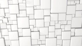 白色摘要求3d在4k的背景的立方 库存例证