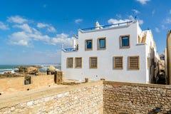 白色摩洛哥房子在索维拉 免版税库存照片