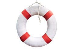 白色救生浮游物 免版税库存图片
