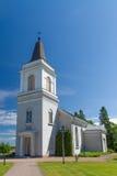白色教会在哈米纳,芬兰 图库摄影