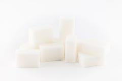 白色方糖 免版税库存图片