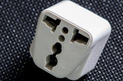 白色旅行力量适配器 免版税库存照片