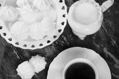白色早餐 免版税库存图片