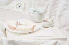 白色早餐 免版税库存照片