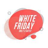 白色星期五有机设计 库存例证