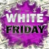 白色星期五销售标志难看的东西 免版税库存图片