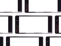 白色智能手机屏幕 免版税库存照片