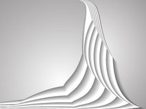 白色曲线线背景 库存例证