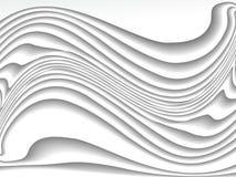 白色曲线线背景 图库摄影