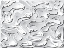 白色曲线线背景 免版税库存图片