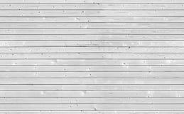 白色木墙壁无缝的纹理  图库摄影