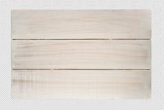 白色木纹理标签,桌背景/顶视图/截去的pa 库存图片