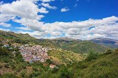 白色村庄在安大路西亚,西班牙 库存照片