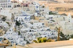 白色村庄在希腊海岛 库存图片