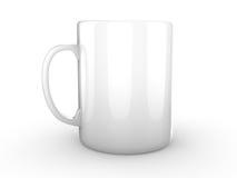 白色杯子被隔绝的准备好商标或烙记 免版税库存图片