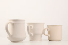 白色杯子系列 库存照片