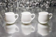3白色杯 库存图片
