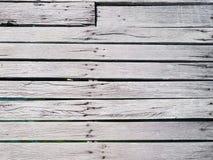白色板条木头路顶视图  库存图片