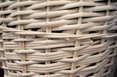 白色柳条秸杆,圆样式,背景 图库摄影
