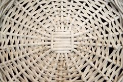 白色柳条秸杆,圆样式,背景 免版税库存图片