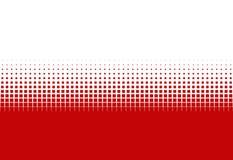 白色梯度的小点红色和 免版税图库摄影
