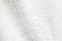 白色棉花毛巾背景照片纹理 免版税图库摄影