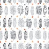 白色森林维尔京森林例证无缝的重复样式背景 向量例证