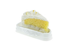 白色椰子蛋糕 图库摄影