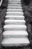 白色楼梯在城市 免版税库存照片