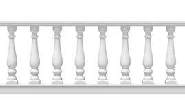 白色楼梯栏杆 向量例证